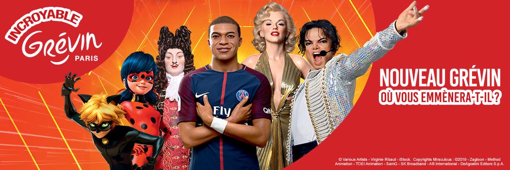 MUSEE GRÉVIN – Paris 17,00€ (tarif aux caisses : 24,50€ Ad. et 18,50€ En.)